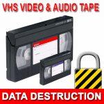 VHS Video Data Destruction